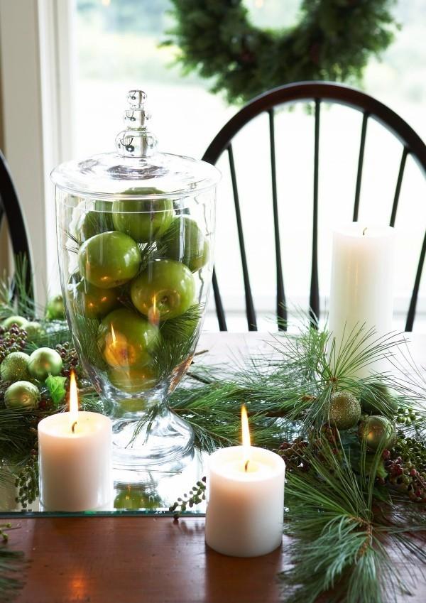 weihnachten kerzen festliche tischgestaltung