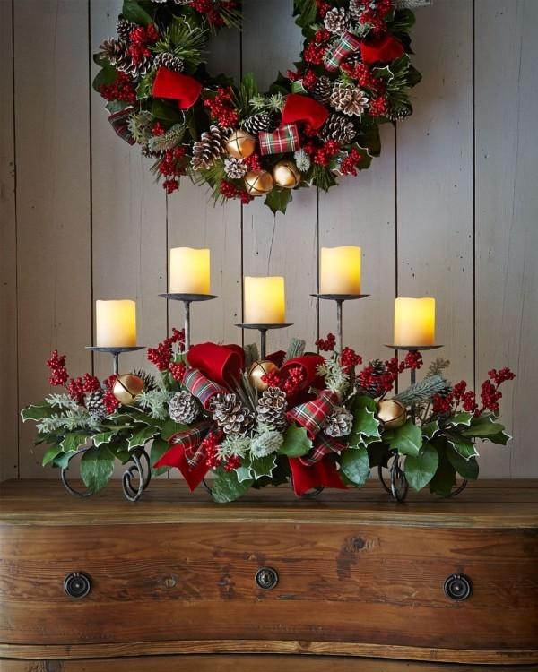 weihnachten kerzen regal deko ideen