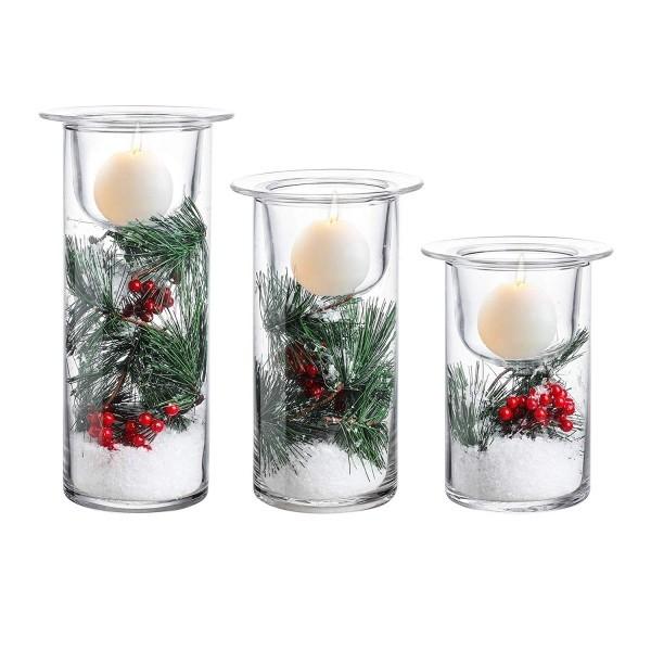 weihnachtliche Deko mit Tannen Kerzen dekorieren