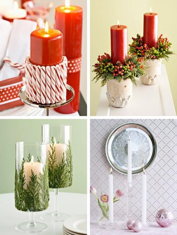 weihnachtsdeko ideen Kerzen dekorieren