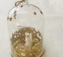 Mehr als 50 Inspirationen für Weihnachtsdeko aus Glas
