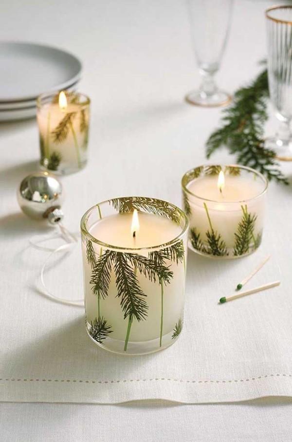 wunderbare weiße kerzen weihnachten kerzen
