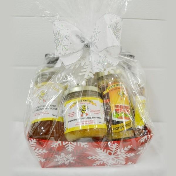 DIY Geschenkkorb Honig für Weihnachten