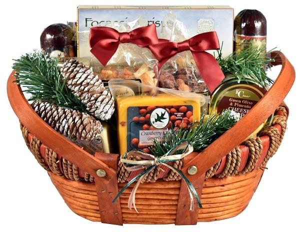 DIY Geschenkkorb Ländliche Deko Weihnachten