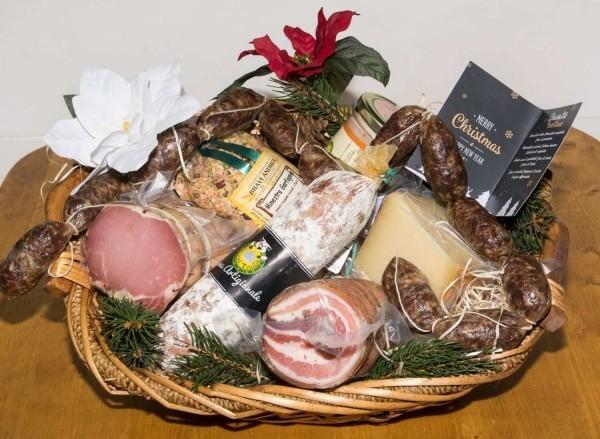DIY Geschenkkorb Präsentkorb Fleischprodukte