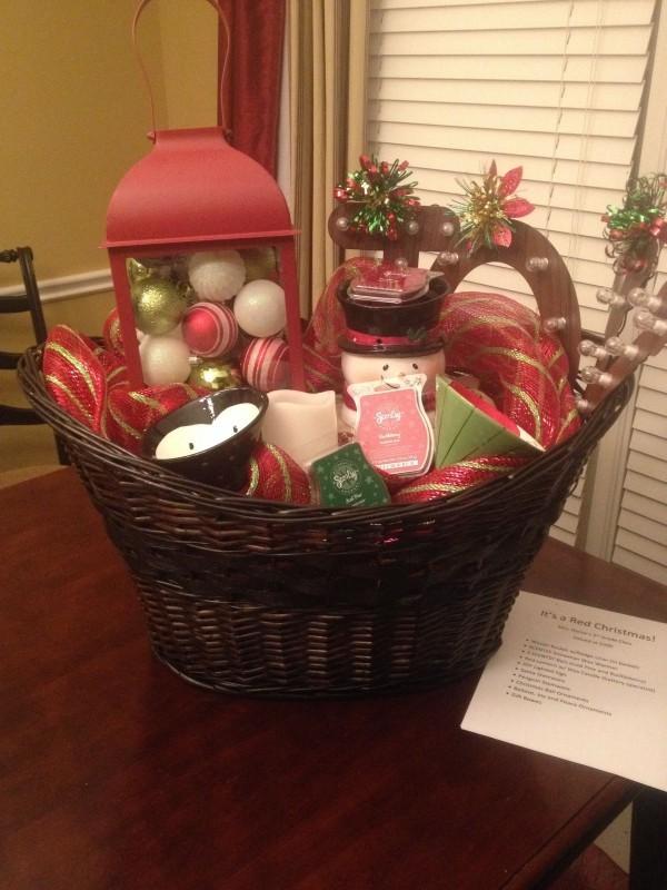DIY Geschenkkorb Tischdeko Weihnachten Deko