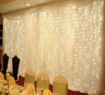 Deko-Tipps mit Lichtervorhang und DIY Ideen