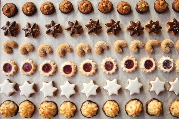 Engelsaugen Plätzchen backen Weihnachtszeit