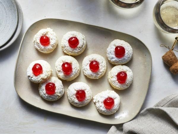Engelsaugen Plätzchen mit Marmalade backen Rezept Weihnachtsgebäck