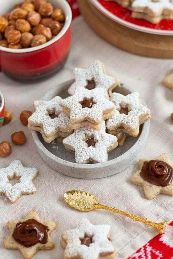 Engelsaugen mit Marmalade Plätzchen backen Sternchen Weihnachtszeit