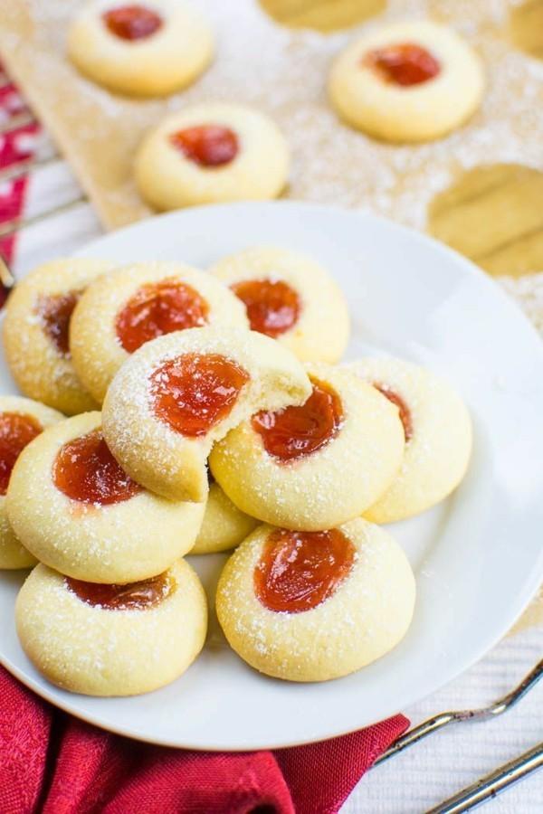 Engelsaugen mit Marmalade Plätzchen backen Weihnachtszeit