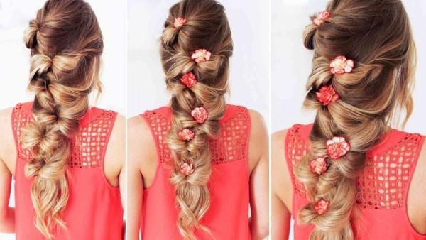 Frisuren Damen Blumen Schmuck Wasserfall Frisur Haarschmuck Ideen