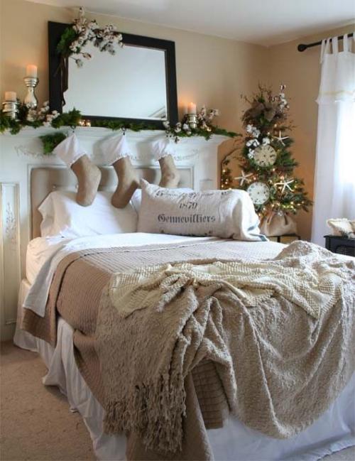 Gemütliches Schlafzimmer im Winter gestalten für Weihnachten