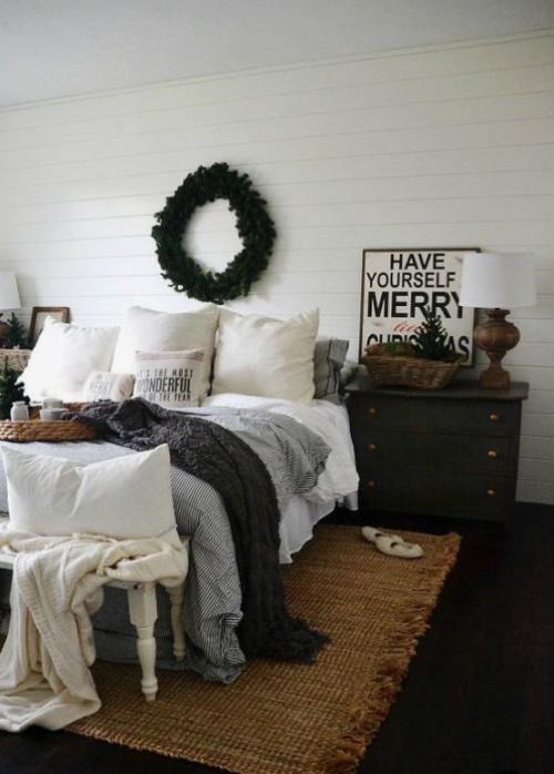Gemütliches Schlafzimmer im Winter gestalten