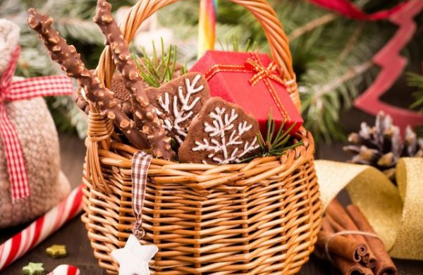 Geschenkkorb -leckere Lebkuchen
