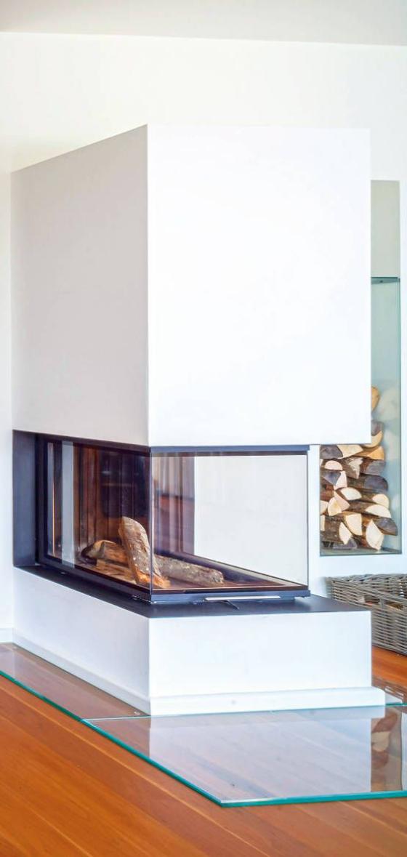 Glas ist seit langer Zeit ein beliebtes Bauelement in der Kaminherstellung.