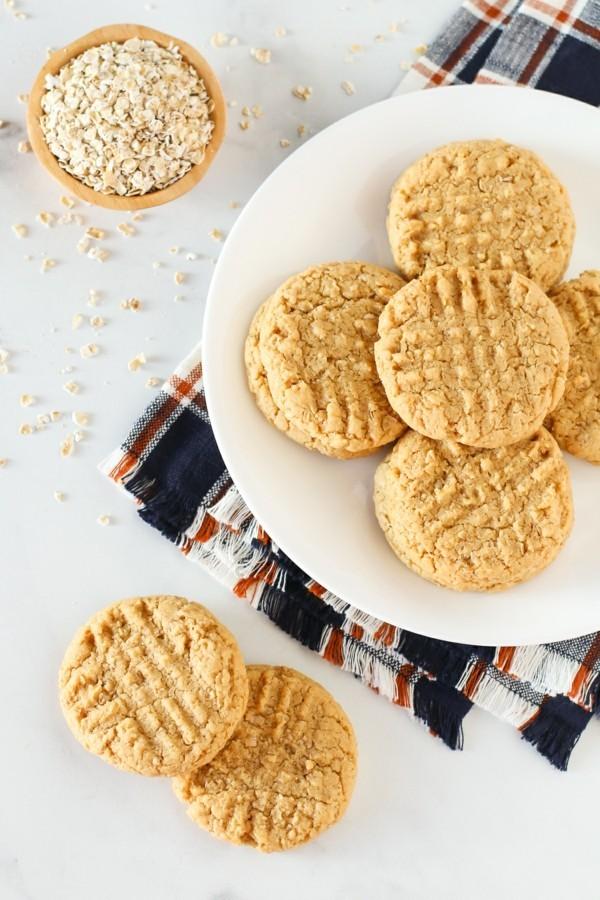 Haferflockenplätzchen Rezept gesunde Ernährung Kekse mit Haferflöcken