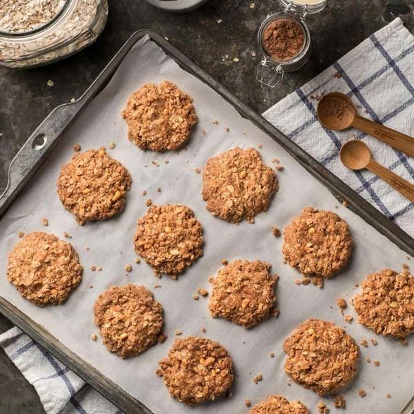 Haferflockenplätzchen einfach backen Rezept Ideen gesundes Essen