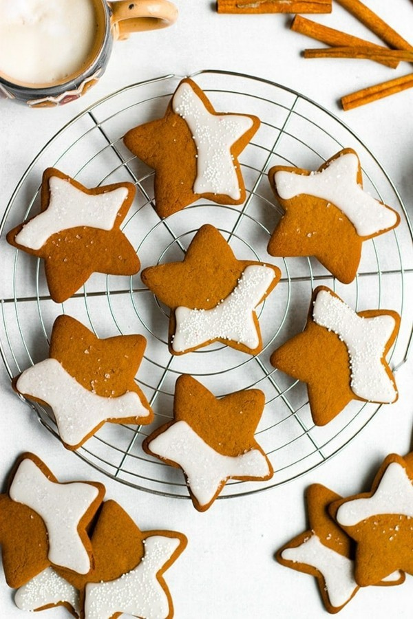 Lebkuchen Sterne Plätzchen Lebkuchenrezept Pfefferkuchen ausstechen