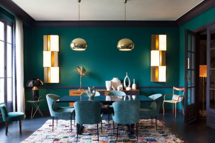 Mehr Farbe im Interieur einzige Farbe Marineblau viele Schattierungen Charme der eintönigen Farbgestaltung