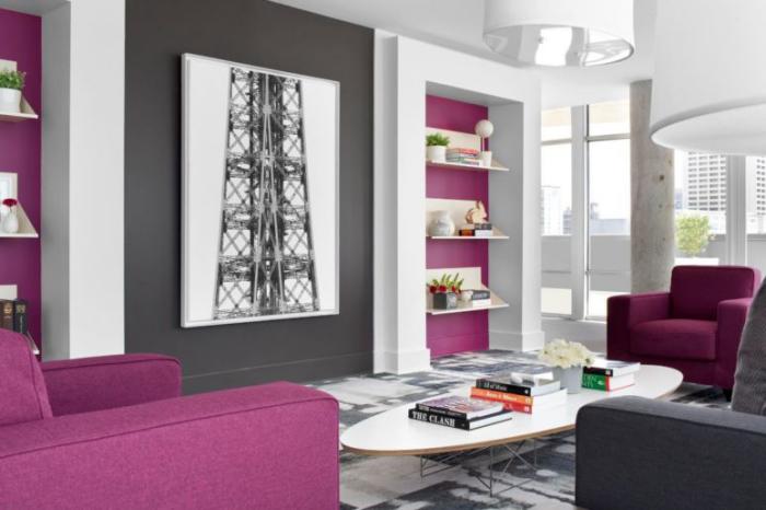 Mehr Farbe im Interieur modernes Wohnzimmer