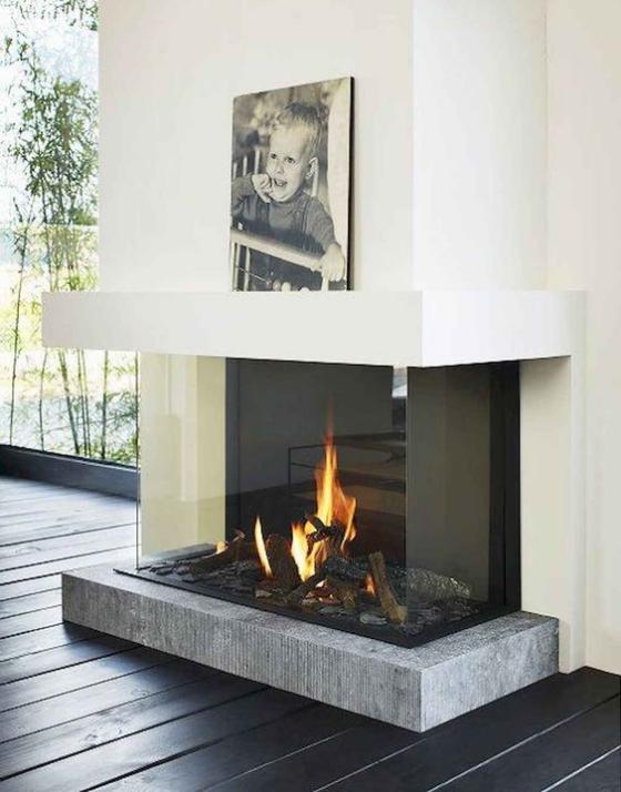 Moderne Kamine Glashaube Glas beliebtes Bauelement in der Kaminherstellung