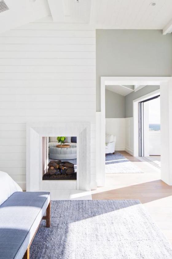 Moderne Kamine eingebauter Kamin perfekt zum minimalistischen Wohnzimmerdesign