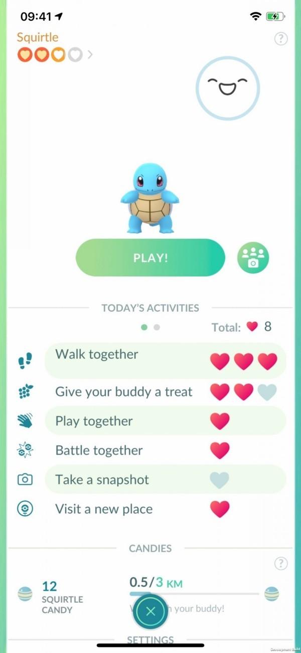 Neue Pokemon Go Buddy Adventure Funktion kommt im Jahr 2020 Squirtle Stats am handy