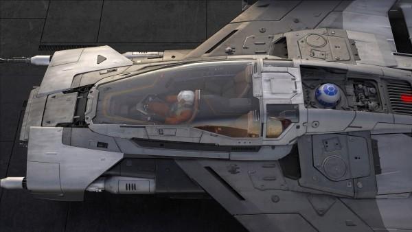 Porsche und Lucasfilm entwerfen ein Star Wars Raumschiff pegasus raumschiff kabine pilot