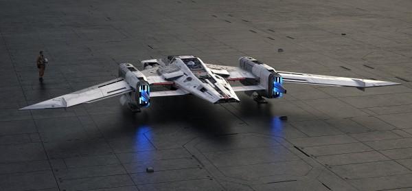Porsche und Lucasfilm entwerfen ein Star Wars Raumschiff pegasus starfighter lichter taycan