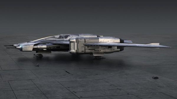 Porsche und Lucasfilm entwerfen ein Star Wars Raumschiff pegasus starfighter seitenansicht
