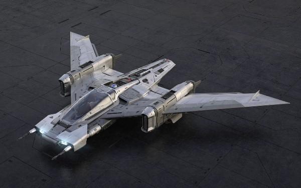Porsche und Lucasfilm entwerfen ein Star Wars Raumschiff vorne blick pegasus taycan inspiriert