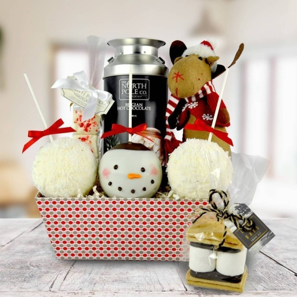 Schneemann Weihnachten Deko DIY Geschenkkorb