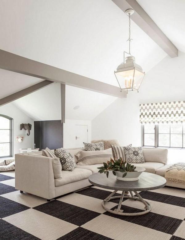 So können Sie Ihren eigenen Teppichboden verlegen teppich schwarz weiß schach