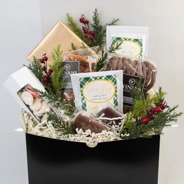 Stilvolle Weihnachtsideen DIY Geschenkkorb