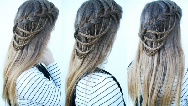 Wasserfall Frisur Haare Flechten Tipps