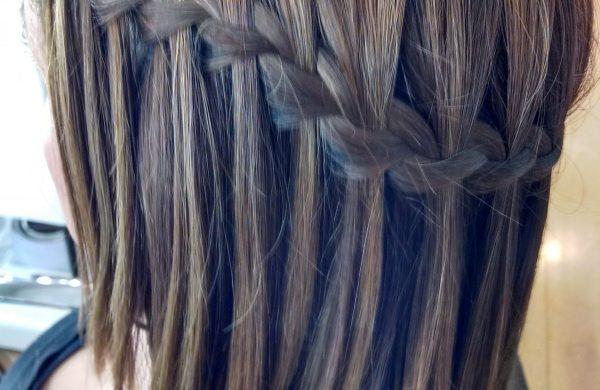 Wasserfall Frisur Haarschnitt dünnes Haar Damen
