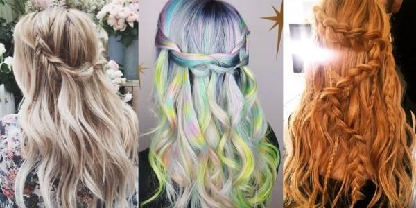 Wasserfall Frisur Trendenzen Haarfarben Damen