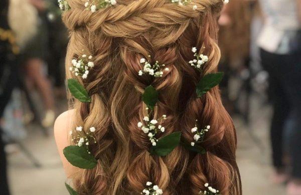 Wasserfall Frisur - dezenter Haarschmuck Haare Wasserfall