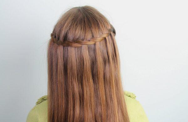 Wasserfall Frisur - lange Haare Ideen