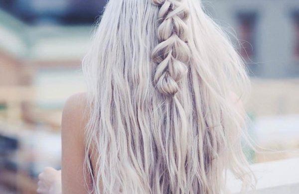 Wasserfall Frisur - langer dicker Zopf Damen Frisuren