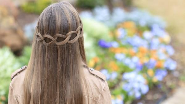 Wasserfall Frisur romantische Haarschnitte lange Haare Frauen