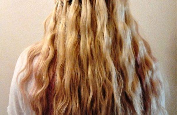 Wasserfall Frisur tolle Frisur lange Haare Damen