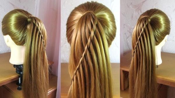 Wasserfall Frisur - tolle Ideen für Haarfarben und Zöpfe