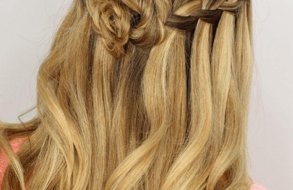 Wasserfall Frisur tolles Haar Haarfarben Trends