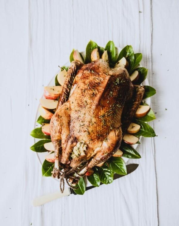 Weihnachtsgans Rezept klassisch traditionell zubereiten und würzen