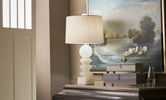 alabaster lampenfuß elegante einrichtungsideen