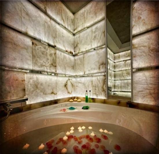 badezimmer wandgestaltung alabaster
