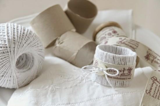 diy serviettenringe aus klorollen basteln