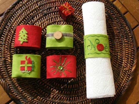 diy serviettenringe aus vlies zu weihnachten